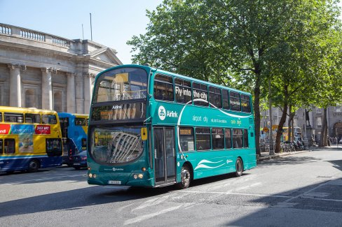 Airlink bus on Dame street